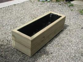 Cuboid Decking Planter 800mm x 300mm 2 Tier